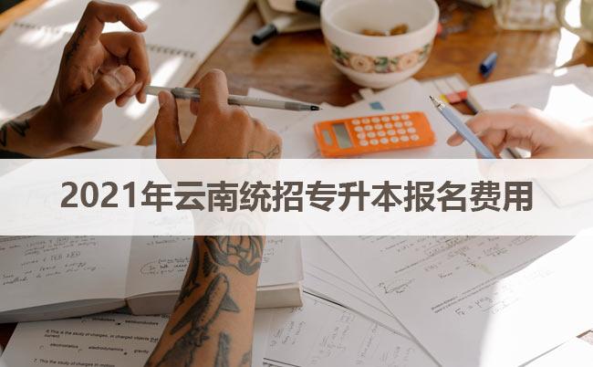 2021年云南统招专升本报名费用